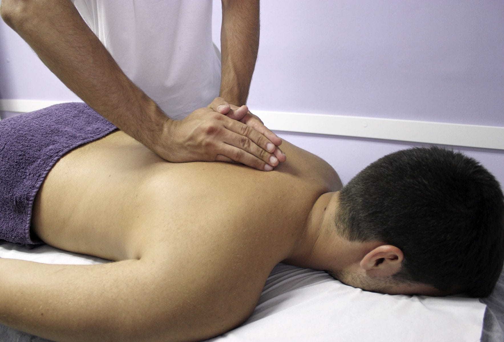 Man getting a massage